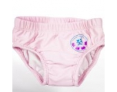 natubini Mädchen Windelbadehose Flamingo-Girl, orig. aquabini Kinder Swim Wear Baby Schwimmwindel u. Kleinkinder Badehose in einem, mit integriertem Hygienevliesstoff Größe 74/80 (7 - 12 Monate)