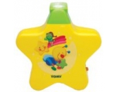 TOMY Nachtlicht KinderzimmerStarlight Traumshow gelb - Einschlafhilfe für Babys mit Musik - vereint Babyspieluhr und Schlummerlicht - ab 0 Monate