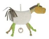 Efie Spieluhr Pferd , mit Holzring, Material aus kontrolliert biologischem Anbau, 100% Made in Germany seit über 60 Jahren