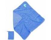 Baby Boum Gimik Babyschlafanzug Badetuch mit Kapuze und Waschlappen–Delft Blue