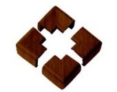 Clevamama 7107 Weicher Eckenschutz 4er mit Holzmaserung, braun