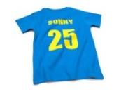 Nappy Head Individuelles Baby/Kinder-T-Shirt - Knallblau mit kurzen Ärmeln (Fußballhemd),18-24 Monate