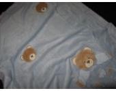 MaxiMo Babydecke, zartblau, 110 x 70 cm, 100% PL
