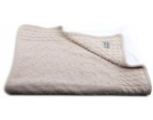 Baby's Only 141012 Babydecke Strickdecke Frottee 95 x 70 cm, Beige
