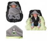 Babyschalendecke mit Applikation von HOBEA-Germany - verschiedene Farben, Farben Winterdecken:grau grün