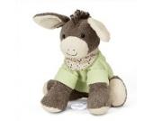 Sterntaler Spieluhr, Stofftier Esel Emmi, Austauschbares Spielwerk, Größe: L, Braun/Grün