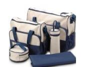 *Versand aus Deutschland*5tlg Wickeltasche Babytasche Pflegetasche Tasche Blau Baby NEU
