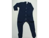BabywearUK Schlafanzug- Marineblau - 0-3 Monate - British Made