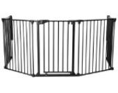 Original IMPAG® Kaminschutzgitter Rondo | 190-310 cm | Automatik-Tür | 90° Feststell-Funktion | Einhandbedienung | Sicherheitsgeprüft 1930:2011 (5-tlg. Schwarz)