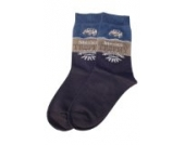 Weri Spezials Kinder Socken, Mexico Travel Motiv in Jeans, Hochwertige merc. Baumwolle, Gr.27-30 (5-6 Jahre)