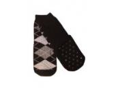 Weri Spezials Kinder ABS Socke Frotee-Sohle Romben Motiv in Schwarz, Gr.23-26 (3-4 Jahre)