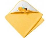 Baby Butt Frottier-Set 2-tlg. Frottier gelb Größe 100x100 cm + 15x21 cm
