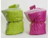 Wickeltischauflage Wickel mich in pink/bunt gemustert von Djou-Djou Design