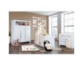 Babyzimmer Felix in weiss 21 tlg. mit 3 türigem Kl + Sleeping Bear in beige