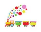 Zug Wandtattoo von Stickerscape - Wandaufkleber