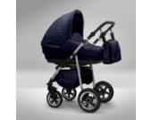 Akjax Fobos 3in1 - Kombikinderwagen - Kinderwagen - Buggy - Babyschale - Nr.14 dunkelblau / dunkelblau