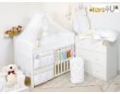 11tlg. Babybettwäsche Set, sort, 135x100cm weiß