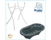 Rotho Babydesign Badewannenständer mit TOP Badewanne silber grau