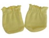 Kratzfäustel Fäustlinge Kratzschutz mit Kratzfäustlingen Handschuhe für Neugeborene Gelb