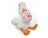 Kuscheltier Storch 30cm waschbar mit Baby // ab 0 Monaten Plüschtier Stofftier Geschenk Geburt Taufe Babyparty Mädchen rosa weiß