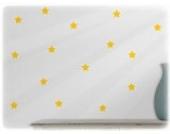 wandfabrik - Wandtattoo - 60 schöne Sterne in gelb
